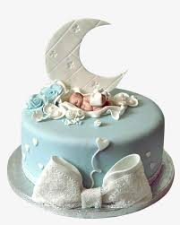 Baby Full Moon Birthday Cake Baby Clipart Moon Clipart Birthday