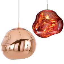 melt copper lamp