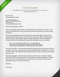 Dublin Green Cover Letter Template
