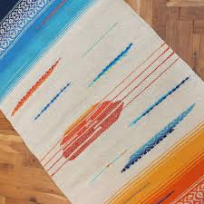 handwoven wool rug area rug floor rug kilim rug home decor rug blue and yellow palette white color with ornaments
