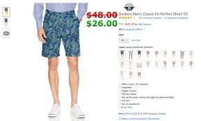 Dockers Mens Classic Fit Perfect Short D3 Cofferdam