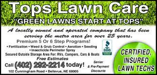 lawncare ad tops lawn care bellevue ne 68005 yellowbook