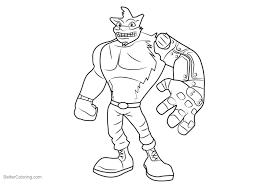 Crash Bandicoot Coloring Pages Garagedoorslogogq