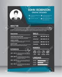 Job Resume Or Cv Design Template Layout Template In A4 Size