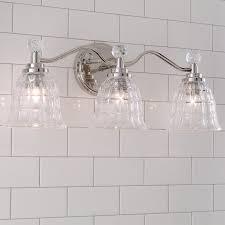 Glass Vanity Light Faceted Glass Vanity Light 3 Light In 2019 Bathroom