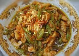Hidangan kuah sop ceker ayam biasanya dihidangkan saat cuaca sedang dingin atau untuk makan malam. Resep Buncis Tahu Nyemek Masakan Rumahan Sehari Hari Oleh Endah Suseno Cookpad