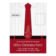 Office Christmas Party Shirt And Tie Invitation Corporate Office