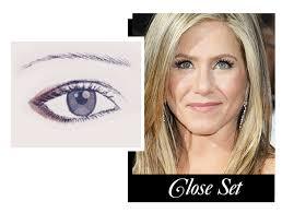 makeup for close set eyes