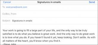 work email signatures how to use signatures in apple mail on your iphone or ipad