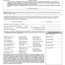 workers pensation exemption form florida free within workers pensation exemption letter 600x600