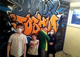 #Graffiti bedroom walls - cool! Hire an artist to come and paint a wall