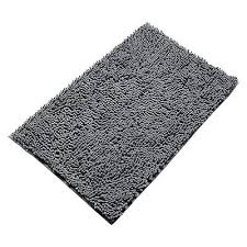 bathroom rug mat non slip bath throw rugs runner bath soft grey