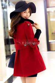 20 offred long sleeve double ted fur collar trench coat