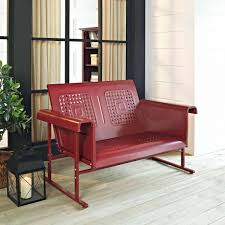 veranda loveseat glider by crosley furniture in red for home ideas expandable bars kitchen cart islands