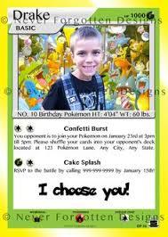 Inspirational Pokemon Card Birthday Invitation Birthday Invitation