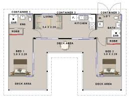 Container House - Shipping container house floorplan using 3 containers  with 2 bedrooms - Who Else Wants Simple Step-By-Step Plans To Design And  Build A ...