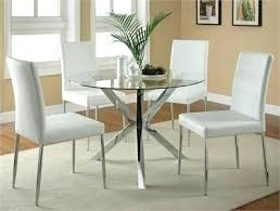 white glass dining table modern round glass table w white chairs white glass dining tables and chairs