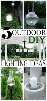 do it yourself outdoor lighting. Do It Yourself Landscape Lighting 5 Outdoor Ideas For Your Porch  Deck Table Pool Or R