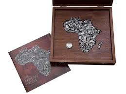 puzzle of africa 36 pieces in wooden box
