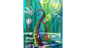 Kevin the Kraken visits Dragonflies Acrylic painting tutorial Q and A -  YouTube