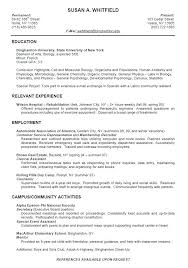 Sample College Resumes High School Resume Template For College