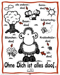 Sheepworld Ohne Dich Ist Alles Doof Mini Poster 40x50