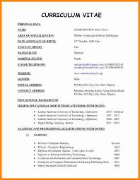 Resume And Cv Format Sarahepps Com