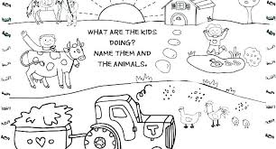 Free Farm Animal Coloring Pictures Barnyard Animals Coloring Pages