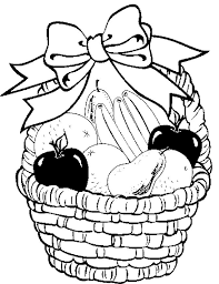 kiMpyELij fruit basket in your decorate with ribbon coloring pages fruit on coloring pages of fruits in a basket