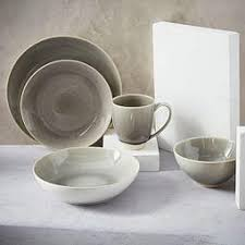 handmade stoneware dinner sets uk. alta crackle glaze dinnerware set - light grey handmade stoneware dinner sets uk e