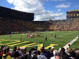 Michigan Stadium Section 9 Home Of Michigan Wolverines