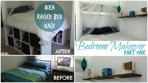Small Bedroom Hacks Diy Ikea Raised Bed Made From Kallax Expedit Bookshelf Chelsea