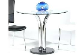 glass table top view. Exellent Glass Round Glass Dining Table Clear With Beveled Edge Bistro  For Glass Table Top View