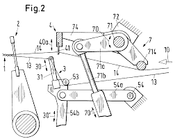Webmaschine mit nadelbarre und einlegeelement für kettfäden patent