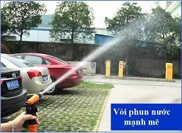 Bộ máy rửa xe ô tô mini với vòi xịt áp lực nước siêu mạnh