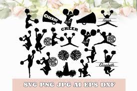 Cheerleader Bundle Monogram Svg Dxf Png Graphic By Designioart Creative Fabrica
