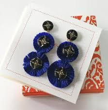 stella dot gemma fan chandeliers earring royal blue