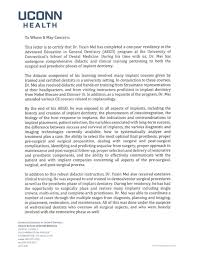 Letter Of Recommendation For A Dentist Mei Clinic