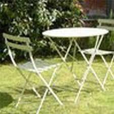 metal garden furniture set round bistro