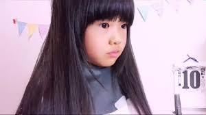自宅で簡単すきばさみカット 小学生女の子ポニーテールの時に顔にかかるサイドバングの切り方