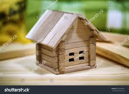 Wooden Cottage Design Design Wooden Cottage Small Childrens Home Stock Image
