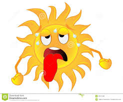 Heat Cool Air Conditioner Sad Sun Is Exhausted From A Heat Stock Vector Image 43041468