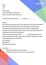 How To Write Appointment Letter How To Write A Joining Letter Sabuinfo