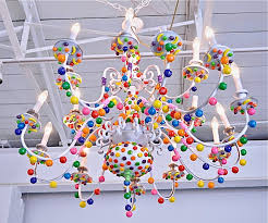 this candy chandelier by the hollywood candy girls is my favorite i have been scouring the thrift s looking for a chandelier that i can add some yummy