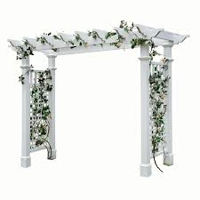 garden arbor lowes. Fine Lowes New England Arbors 925ft W X 716ft H White Garden Arbor To Lowes L
