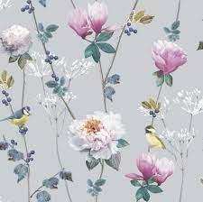 Floral wallpaper, Glitter wallpaper ...