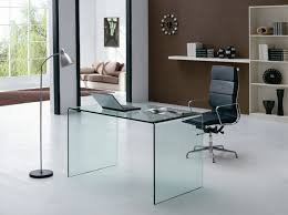 modern glass office desk with regard to plans 8