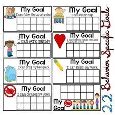Goal Charts For Work Behavior Goal Charts Behavior Specific Goal Charts