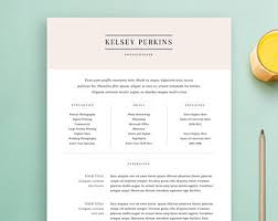 Resume Template and Cover Letter Template, Professional Design CV, Download  Custom Word Doc,