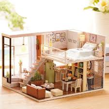 diy doll furniture. Astounding Diy Doll House Wooden Houses Miniature Dollhouse Furniture Kit And Also Captivating \